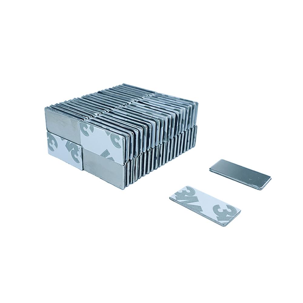 Ímã Neodímio 20x10x1 mm N35 Adesivado