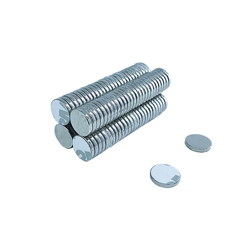 Ímã Neodímio Ø 10x1 mm N35 Adesivado