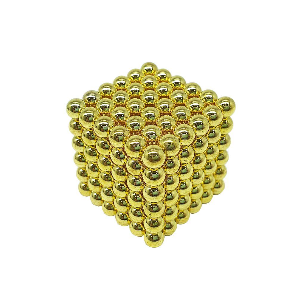Neocube Dourado Neodímio 216 Esferas ø 5 mm