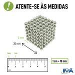 Neocube Preto Neodímio 216 Esferas ø 5 mm