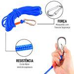 Maleta Pesca Magnética 60 mm Corda Azul Força Aproximada 120kg 5 Peças