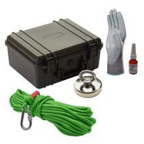 Maleta Pesca Magnética 60 mm Corda Verde Força Aproximada 120kg 5 Peças