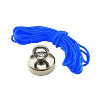 Kit Pesca Magnética Fixador 60 mm e Corda 10 Metros Azul
