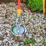Maleta Pesca Magnética 90 mm 2 Olhais Corda Verde Força Aproximada 400kg 5 Peças