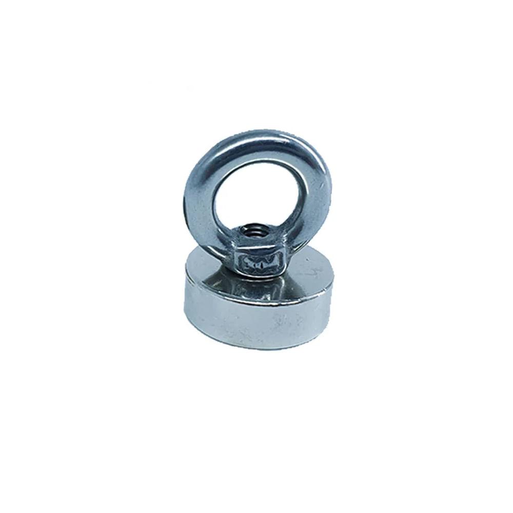 Fixador Magnético 20 mm Rosca M4 com Olhal Força Aproximada 12kg