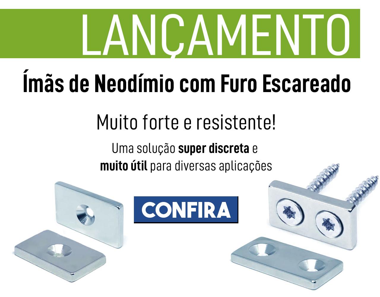 banner principal mobile - Ímãs de Neodímio Com Furo Escareado