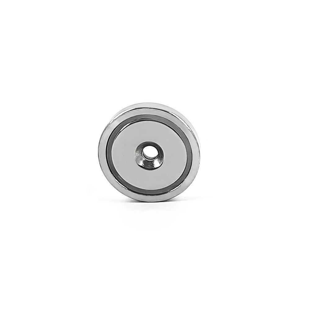 Fixador Magnético 36 mm com Furo Escareado Força Aproximada 40kg