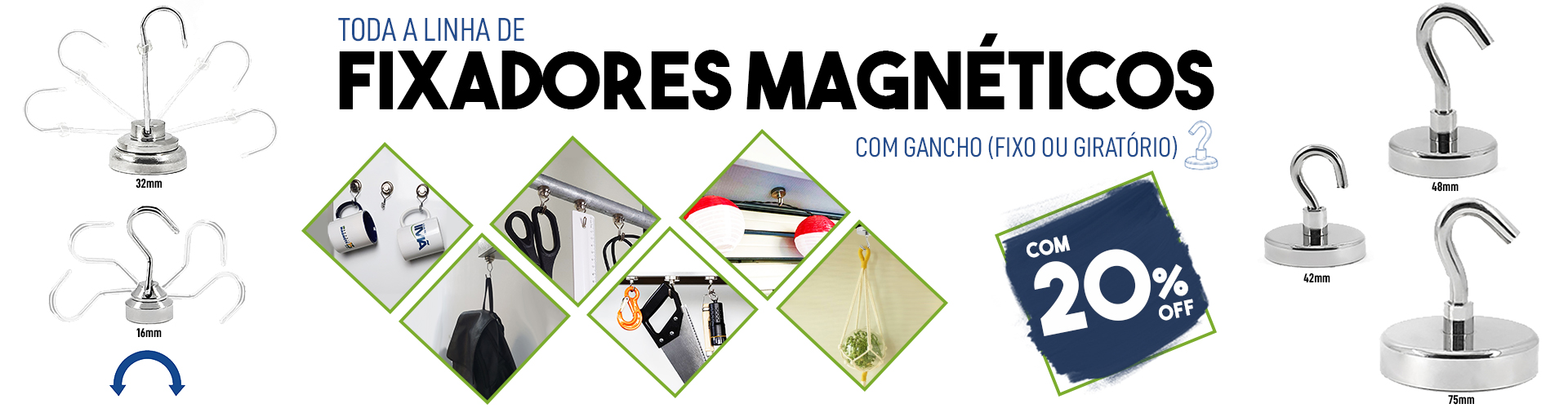Banner Principal - Fixadores Gancho 20% OFF